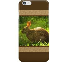Wild Bunny ~ In a Patch of Clover iPhone Case/Skin