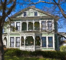Stylized photo of the San Diego Heritage Park Burton House. by NaturaLight
