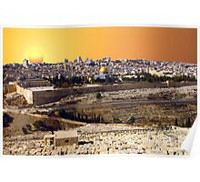 Jerusalem sunset Poster