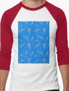 Swimming day Men's Baseball ¾ T-Shirt