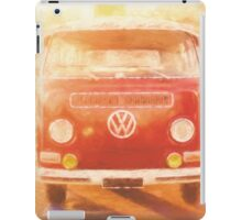 Artistic digital drawing of a VW Combie campervan iPad Case/Skin