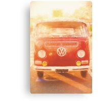 Artistic digital drawing of a VW Combie campervan Canvas Print