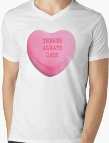 There's Always Cats Mens V-Neck T-Shirt