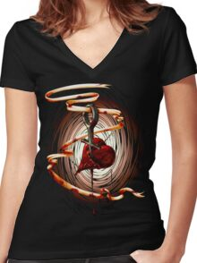""""""" I love HER """" Women's Fitted V-Neck T-Shirt"""