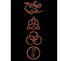 VERTICAL METAPHYSICAL RUNES - copper grunge Photographic Print
