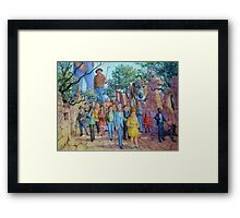 Shepherding the Little People Framed Print