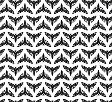 Neo-Goth Cicada Pattern by phantomprint