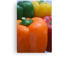 Colourful peppers Canvas Print