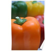 Colourful peppers Poster