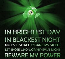 Green Lantern Oath Poster by ThreadofLife