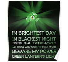 Green Lantern Oath Poster Poster