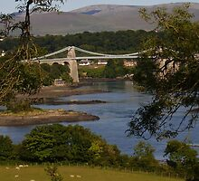 River Cegin, Menai Bridge, Wales by tonymm6491