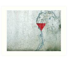concrete triangle Art Print