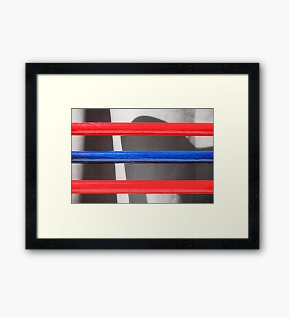 Red and Blue Framed Print