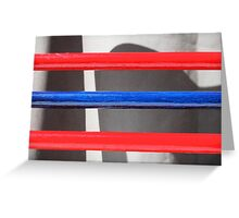 Red and Blue Greeting Card