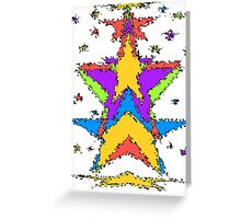 Abstract stars Greeting Card