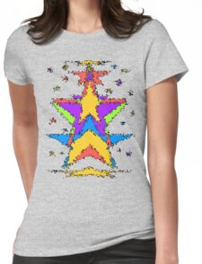 Abstract stars Womens Fitted T-Shirt