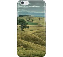 Where Hobbits Dwell ( 1 ) The Rolling Hills of Matamata iPhone Case/Skin