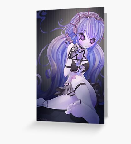 Gothic little ghost Greeting Card