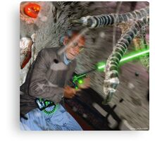 Daud & The Goliath Intergalactic dOve Invader Canvas Print