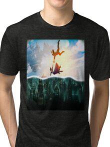 Bioshock Two Worlds Collide Tri-blend T-Shirt