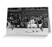 Retro Soccer 7 - old time TV Greeting Card