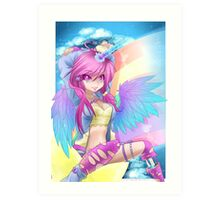 Rainbow Unicorn overkill Art Print