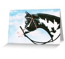 Blue Overo Sky Greeting Card