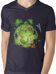 Clover - St Patricks Day Mens V-Neck T-Shirt