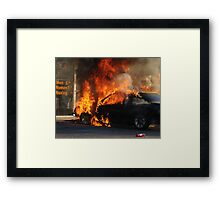 Up in flames Framed Print