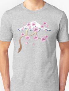 Cherry Blossoms and Mt. Fuji T-Shirt