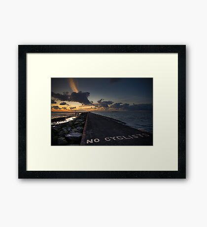 No Cyclists Framed Print