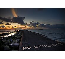 No Cyclists Photographic Print