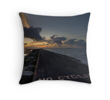 No Cyclists Throw Pillow