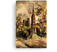 The Martyr's Memorial, Magdalen Street, Oxford 1853 Canvas Print