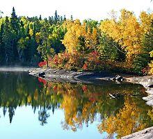 September at Caddy Lake by Vickie Emms
