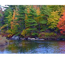 Frog Pond Autumn Photographic Print