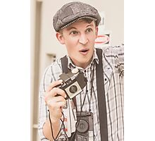 Press photographer with great exposure Photographic Print