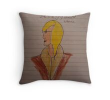 The educated woman Throw Pillow