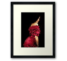 Woman in a Red Dress Framed Print