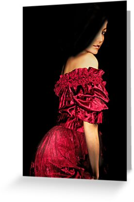 Woman in a Red Dress by Cathleen Tarawhiti