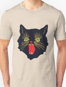 vintage 60's halloween cat design  Unisex T-Shirt