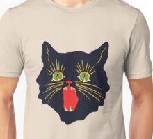 vintage 60's halloween cat design  Unisex T-Shirt
