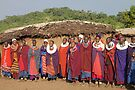 Maasai Women's Welcome by Carole-Anne