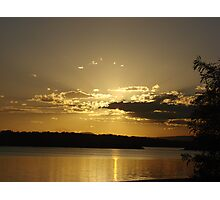 Golden Ray Sunset Photographic Print