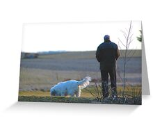 He was my best friend! Greeting Card