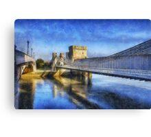 Conwy Suspension Bridge Canvas Print