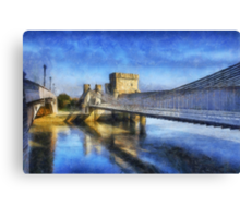 Conwy Suspension Bridge Canvas Print