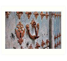 Ornate old door - Camino de Santiago Art Print