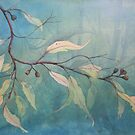 Watercolour: Gum leaves ethereal by Marion Chapman
